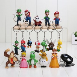 Lot de 18 porte cle Nintendo