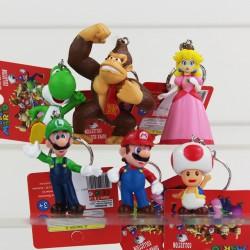 Lot de 6 porte clé Nintendo