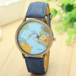 Montre denim Mini World